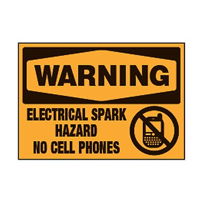 Chemical Safety Labels - Warning Electrical Spark Hazard