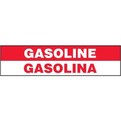 Bilingual Chemical Labels - Gasoline Gasolina