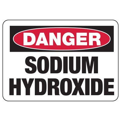 Chemical Warning Signs - Danger Sodium Hydroxide