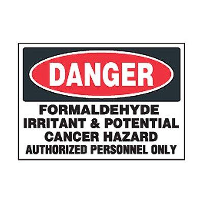 Chemical Safety Labels - Danger Formaldehyde