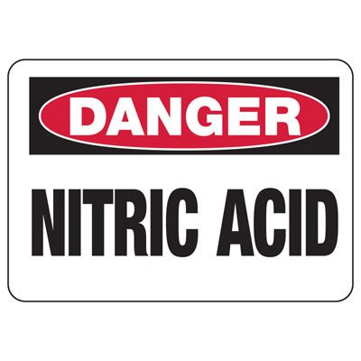 Chemical Warning Signs - Danger Nitric Acid