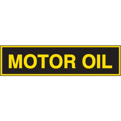 Chemical Labels - Motor Oil