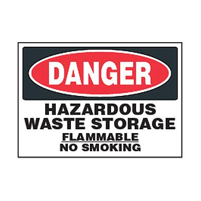 Chemical Safety Labels - Danger Hazardous Waste Flammable