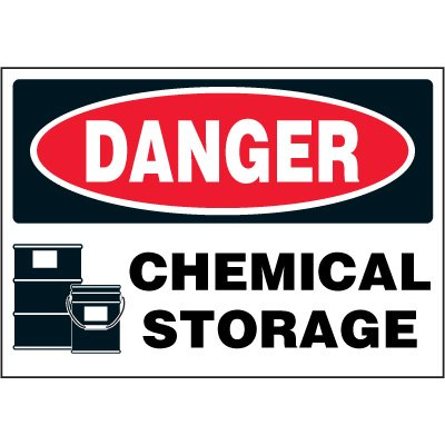 Chemical Labels - Danger Chemical Storage