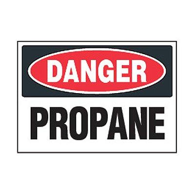 Chemical Safety Labels - Danger Propane