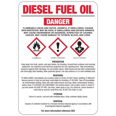 Chemical GHS Signs - Diesel Fuel Oil