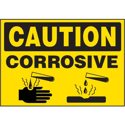 Chemical Labels - Caution Corrosive