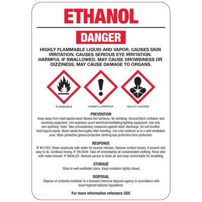 Chemical GHS Signs - Ethanol