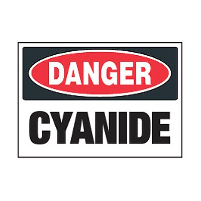 Chemical Safety Labels - Danger Cyanide