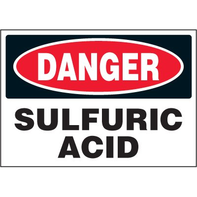Chemical Labels - Danger Sulfuric Acid