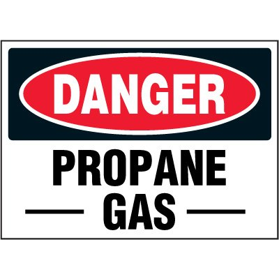 Chemical Labels - Danger Propane Gas