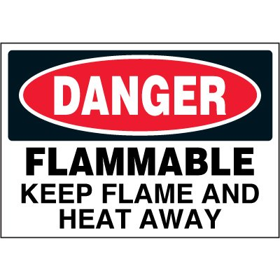 Chemical Labels - Danger Flammable Keep Flame And Heat Away