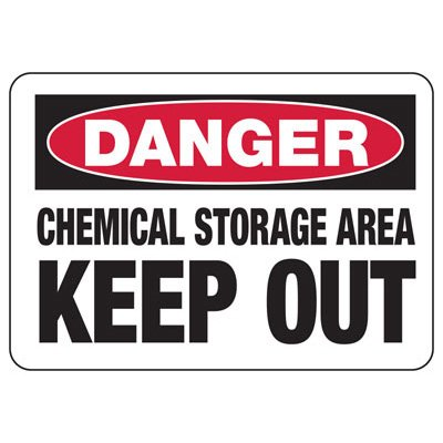 Chemical Warning Signs - Danger Chemical Storage Area