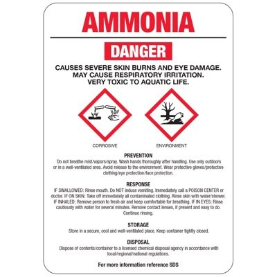 Chemical GHS Signs - Ammonia