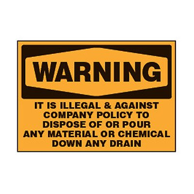 Chemical Safety Labels - Warning It Is Illegal