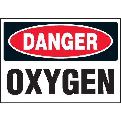 Chemical Labels - Danger Oxygen
