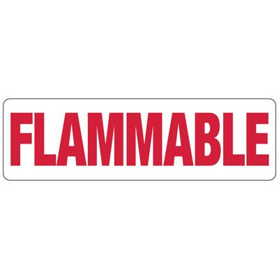 Flammable Safety Sign