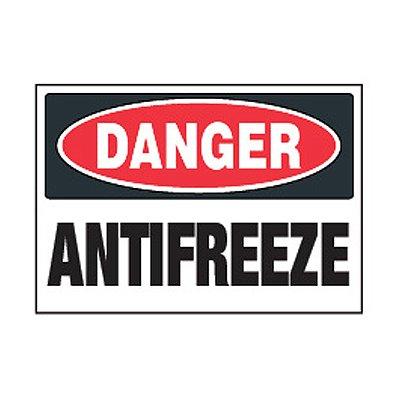 Chemical Safety Labels - Danger Antifreeze