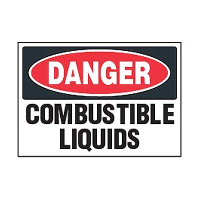 Chemical Safety Labels - Danger Combustible Liquids