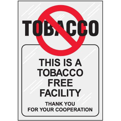 Tobacco Free Window Decal