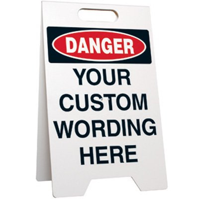 Danger Custom-Worded Floor Stand