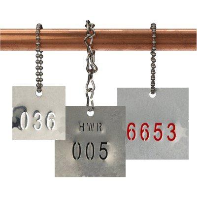 Custom Stamped Stainless Steel Valve Tags