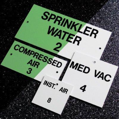 Custom Photoluminescent Valve and Equipment Tags