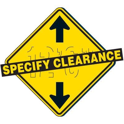 Custom Clearance Sign