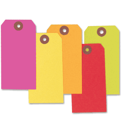 Custom Printed Heavy Duty Fluorescent Paper Tags