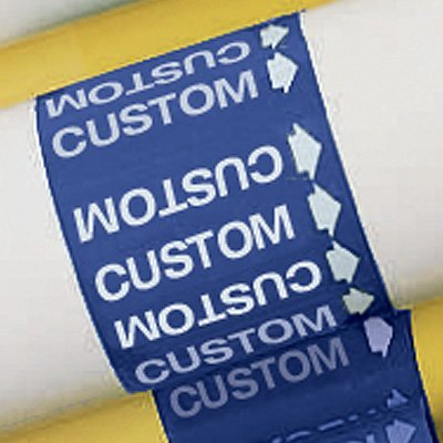 Custom Medical Gas Pipe Markers-On-A-Roll