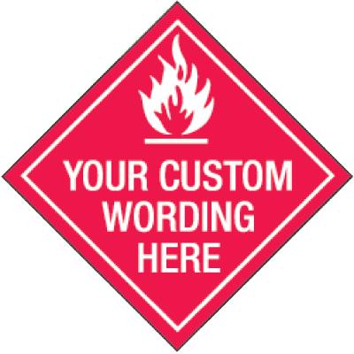 Custom Diamond Shaped Placard Signs