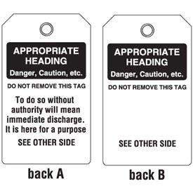 Semi-Custom Plastic Duro-Tags