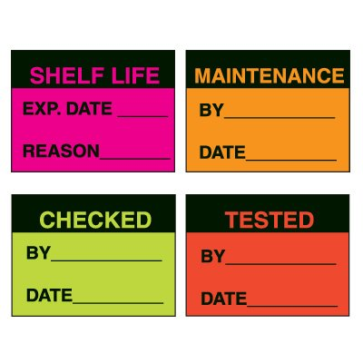 Custom Fluorescent Paper Write-On Labels