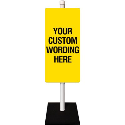 Custom Double Sided Flexible Sign Stanchion System
