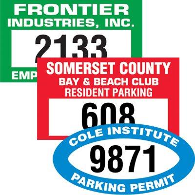Custom Bumper-Mount Parking Permits