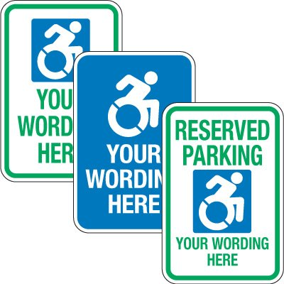 Custom Handicap Parking Signs with 2014 Accessible Icon