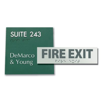 Custom Edged ADA Signs - 8 x 2