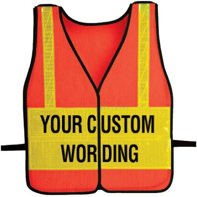 Custom Worded Safety Vests