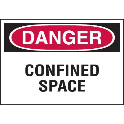 Confined Space Labels - Danger Confined Space