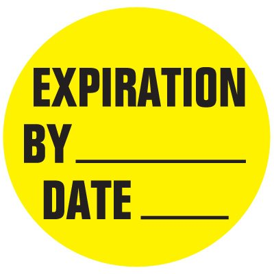 Cold Adhesion Roll Form Labels - EXPIRATION BY DATE