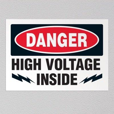 Danger High Voltage Inside - Voltage Warning Labels