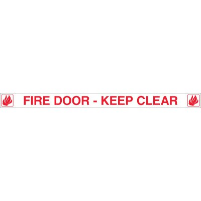 Fire Door Edge Message Labels