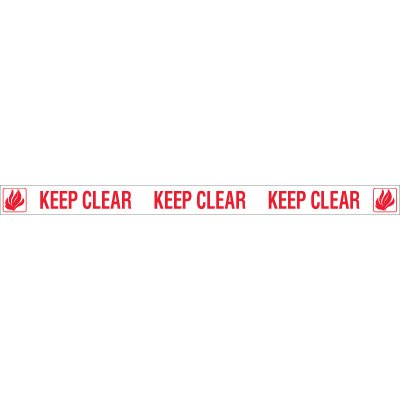 Keep Clear Door Edge Massage Labels