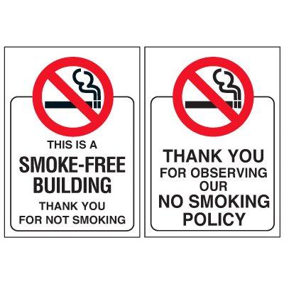 Smoke-Free Building Door and Window Labels