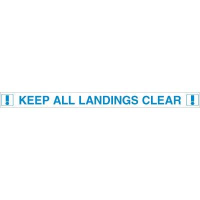 Keep Landing Clear Door Edge Message Labels