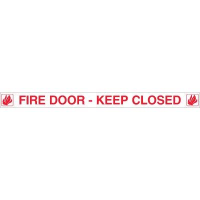 Fire Door Edge Message Labels