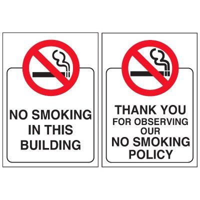 No Smoking Glass Door and Window Labels
