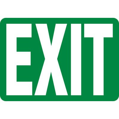 Exit Safety Sign
