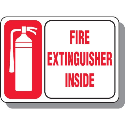 Fire Extinguisher Inside Signs