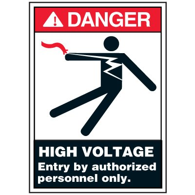 Electrical Safety Labels On A Roll - Danger Authorized Personnel Only